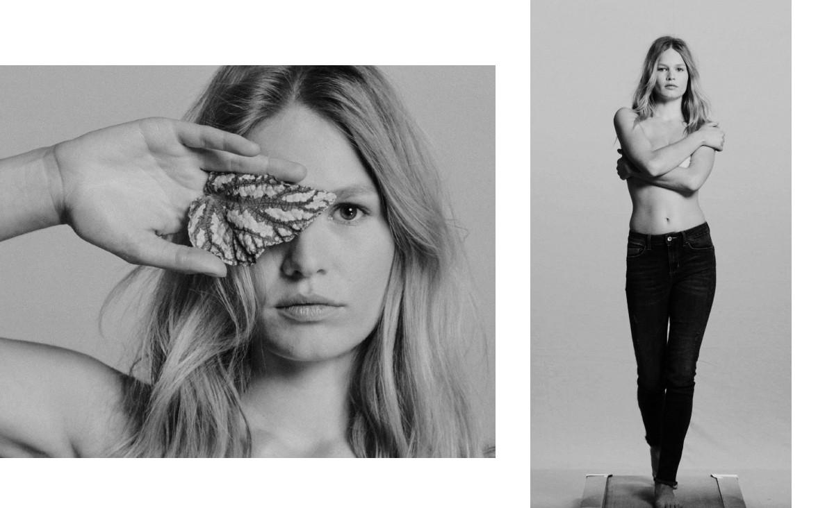 Twarzą linii Liu Jo Better Denim została jedna z najpopularniejszych modelek, Anna Ewers. Zdjęcia z backstage'u. (Fot. materiały prasowe)