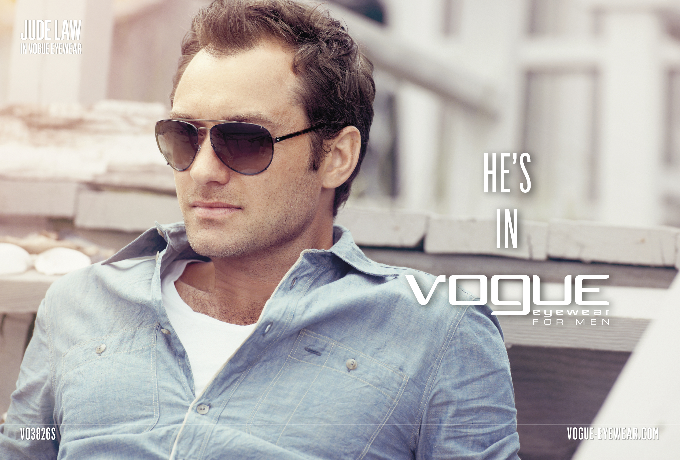 "Wiosenna kampania ""He's In Vogue"" Vogue Eyewear for Men"