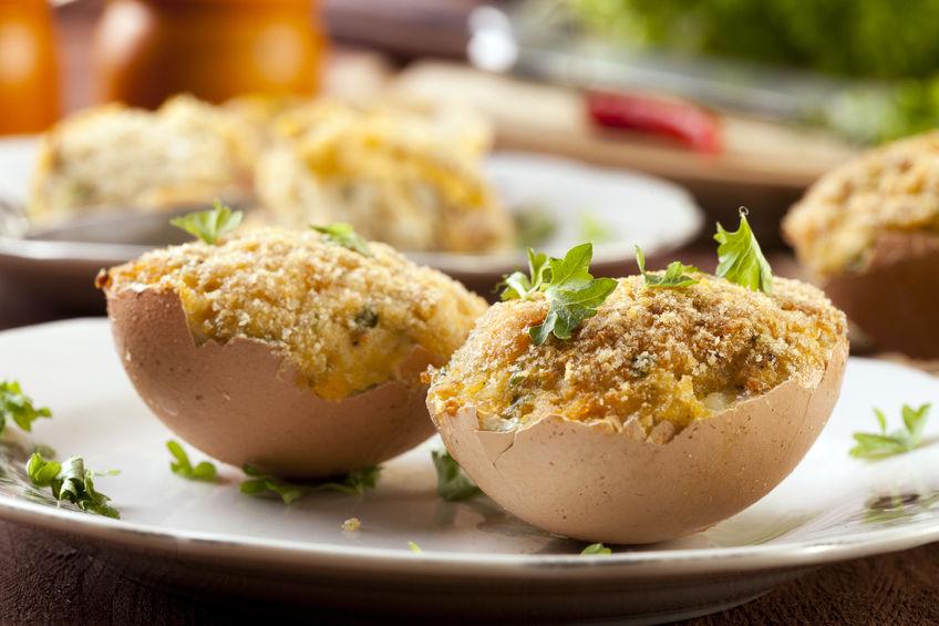 Jaja faszerowane z grzybami